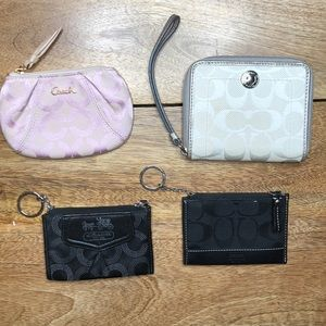 USED Coach wallet and 3 coin purses